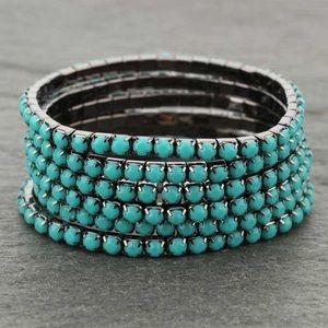 Jewelry - 6 Strand Stackable Stretch Bracelet